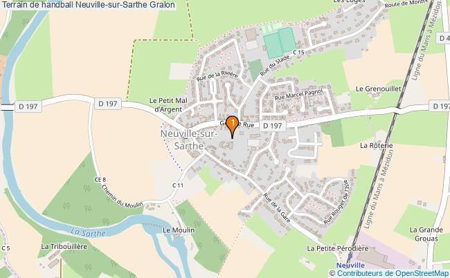 plan Terrain de handball Neuville-sur-Sarthe : 1 équipements