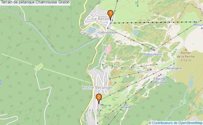 plan Terrain de pétanque Chamrousse : 2 équipements