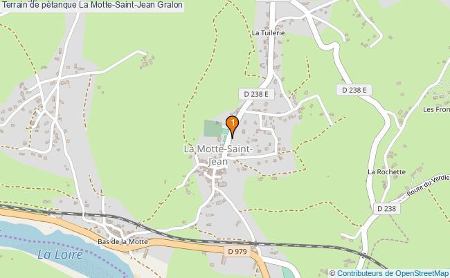 plan Terrain de pétanque La Motte-Saint-Jean : 1 équipements