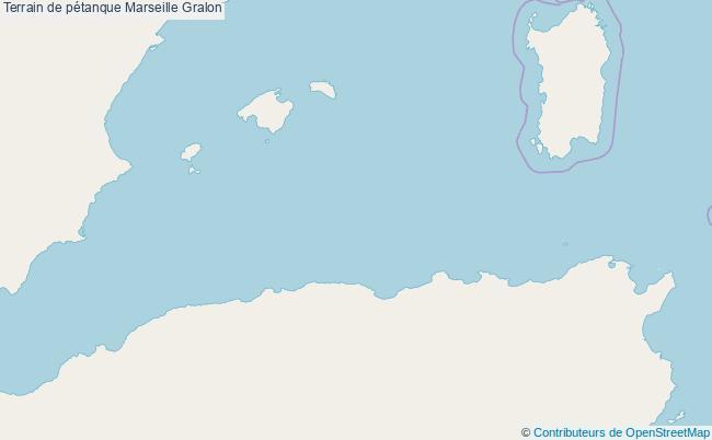 plan Terrain de pétanque Marseille : 8 équipements