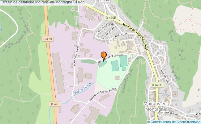 plan Terrain de pétanque Moirans-en-Montagne : 1 équipements