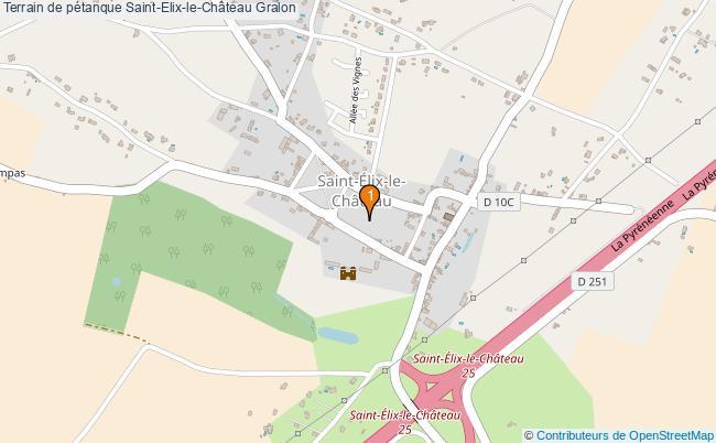 plan Terrain de pétanque Saint-Elix-le-Château : 1 équipements