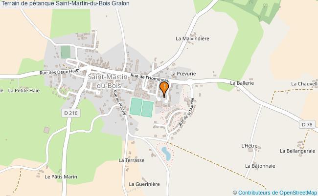 plan Terrain de pétanque Saint-Martin-du-Bois : 1 équipements