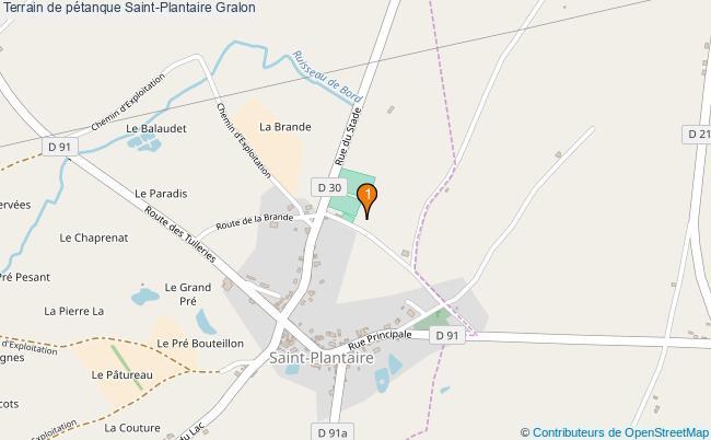plan Terrain de pétanque Saint-Plantaire : 1 équipements