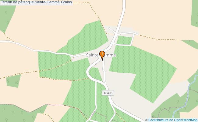 plan Terrain de pétanque Sainte-Gemme : 1 équipements