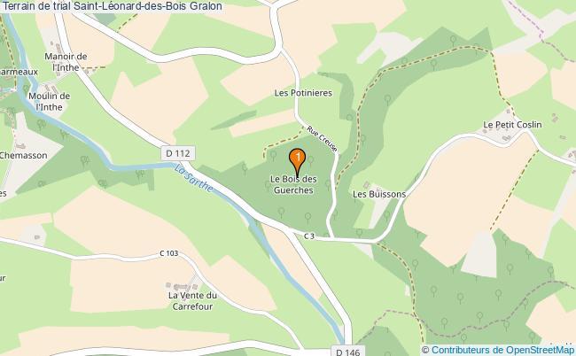 plan Terrain de trial Saint-Léonard-des-Bois : 1 équipements