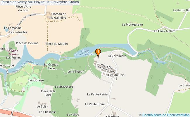 plan Terrain de volley-ball Noyant-la-Gravoyère : 1 équipements