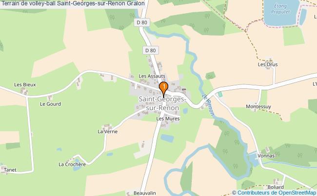 plan Terrain de volley-ball Saint-Georges-sur-Renon : 1 équipements