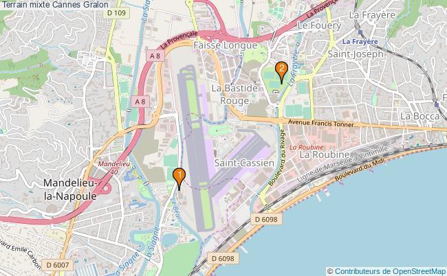 plan Terrain mixte Cannes : 2 équipements