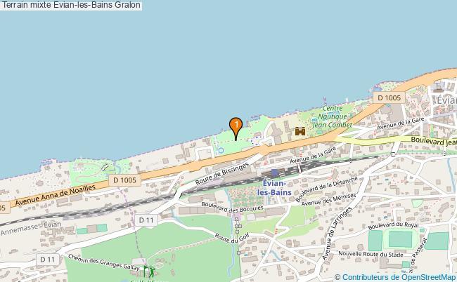 plan Terrain mixte Evian-les-Bains : 1 équipements