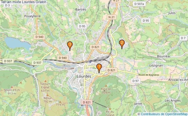 plan Terrain mixte Lourdes : 3 équipements