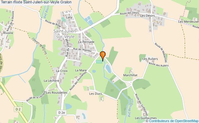 plan Terrain mixte Saint-Julien-sur-Veyle : 1 équipements