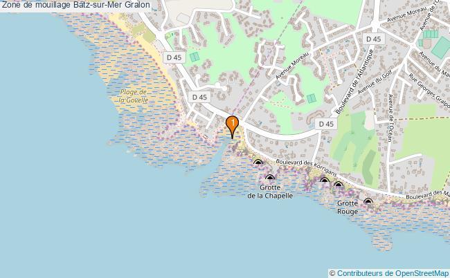 plan Zone de mouillage Batz-sur-Mer : 1 équipements