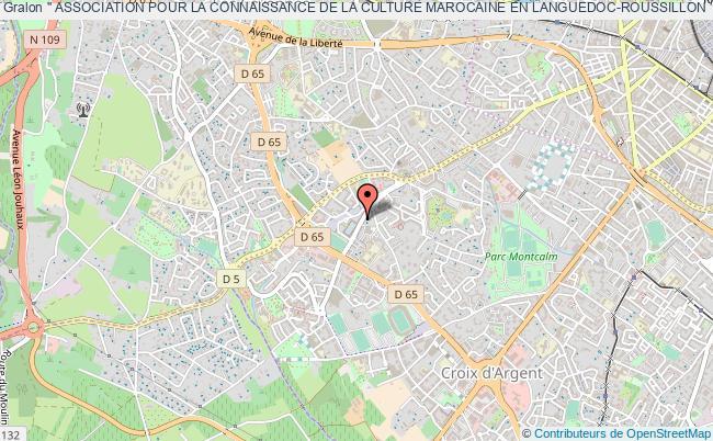 plan association '' Association Pour La Connaissance De La Culture Marocaine En Languedoc-roussillon ''