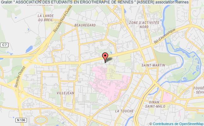 "plan association "" Association Des Etudiants En Ergotherapie De Rennes "" [asseer] Rennes"