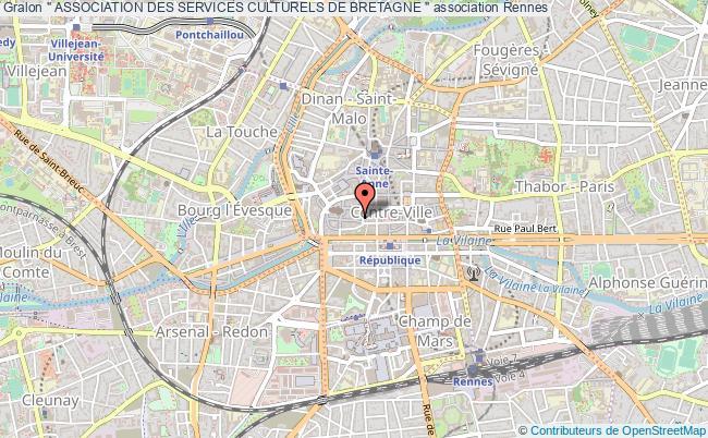 """plan association """" Association Des Services Culturels De Bretagne """""""