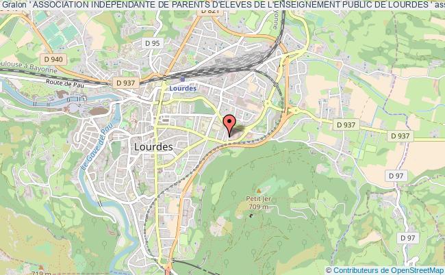 plan association ' Association Independante De Parents D'eleves De L'enseignement Public De Lourdes ' Lourdes