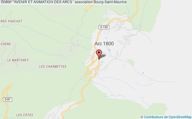plan association ' Avenir Et Animation Des Arcs '