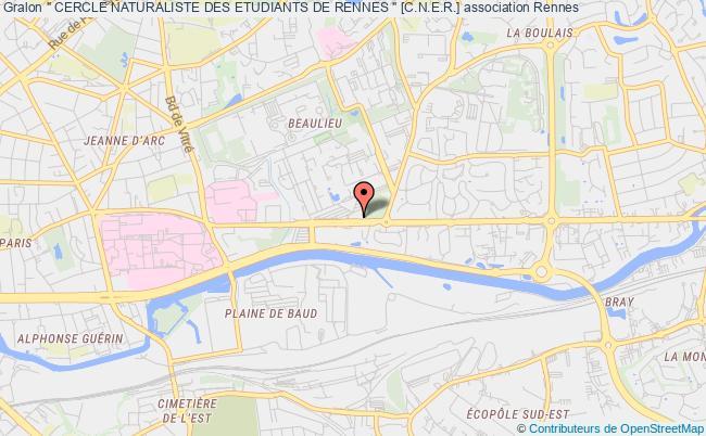 """plan association """" Cercle Naturaliste Des Etudiants De Rennes """" [c.n.e.r.] Rennes"""