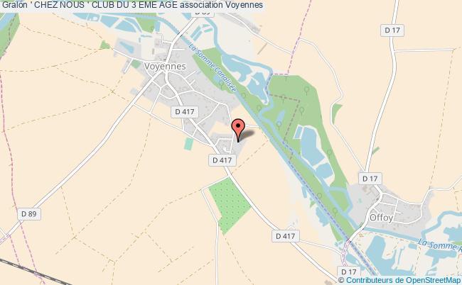 plan association ' Chez Nous ' Club Du 3 Eme Age