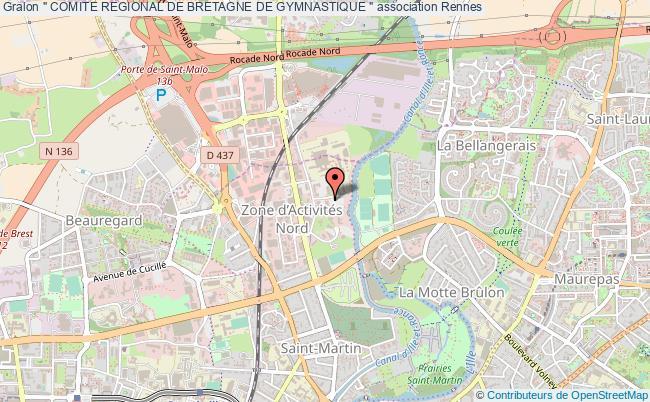 "plan association "" Comite Regional De Bretagne De Gymnastique "" Rennes"
