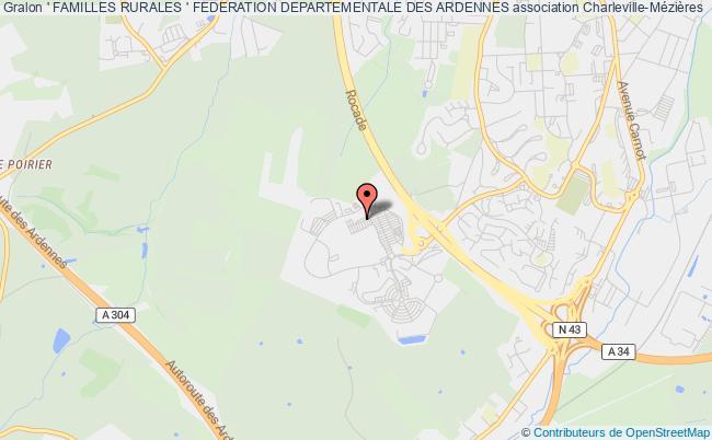 plan association ' Familles Rurales ' Federation Departementale Des Ardennes