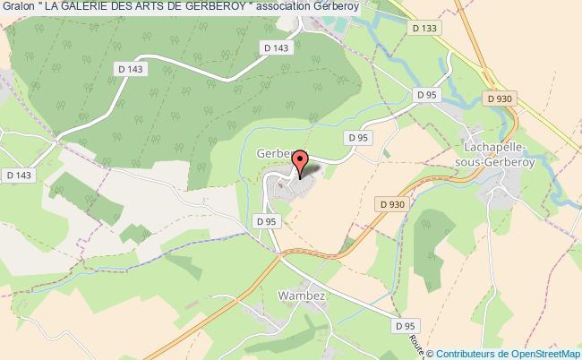 """plan association """" La Galerie Des Arts De Gerberoy """""""