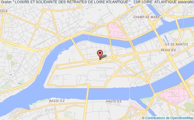 """plan association """" Loisirs Et Solidarite Des Retraites De Loire Atlantique """"   Lsr Loire  Atlantique"""