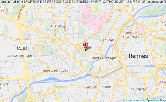"""plan association """" Union Sportive Des Personnels De L'enseignement  Catholique """" [u.s.p.e.c. 35] Rennes"""