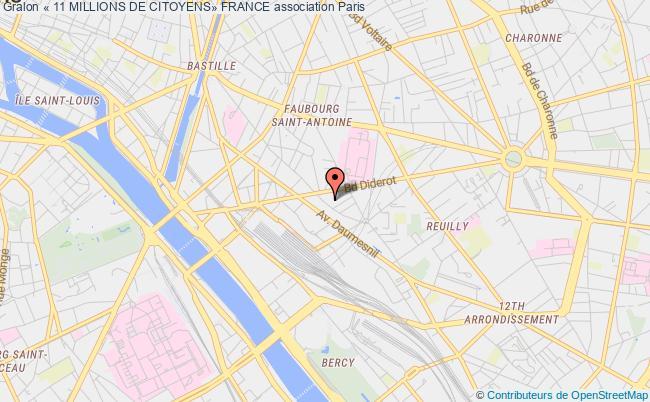 plan association « 11 Millions De Citoyens» France Paris