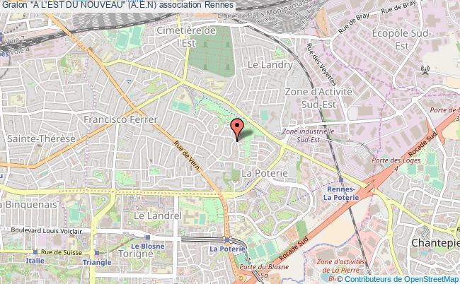 """plan association """"a L'est Du Nouveau"""" (a.e.n) Rennes"""