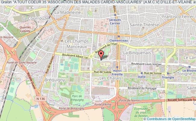 """plan association """"a Tout Coeur 35 'association Des Malades Cardio-vasculaires"""" [a.m.c.v] D'ille-et-vilaine Rennes"""
