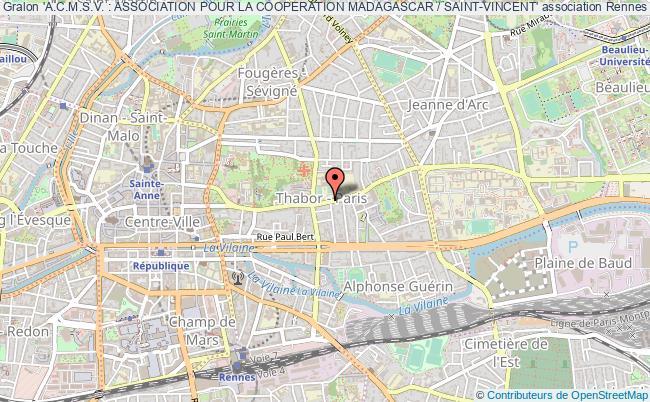 plan association 'a.c.m.s.v. : Association Pour La Cooperation Madagascar / Saint-vincent' Rennes