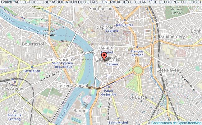 """plan association """"aegee-toulouse"""" Association Des Etats Generaux Des Etudiants De L'europe-toulouse (aegee-toulouse)"""