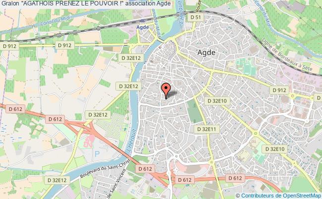 """plan association """"agathois Prenez Le Pouvoir !"""" Agde"""