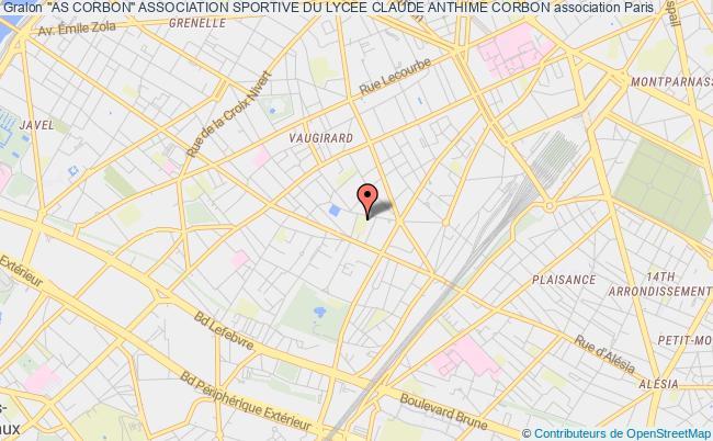 "plan association ""as Corbon"" Association Sportive Du Lycee Claude Anthime Corbon"