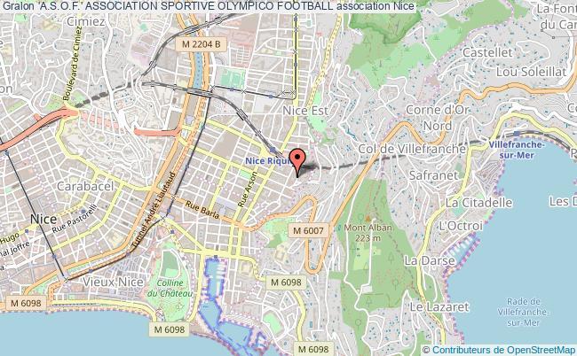 plan association 'a.s.o.f.' Association Sportive Olympico Football Nice