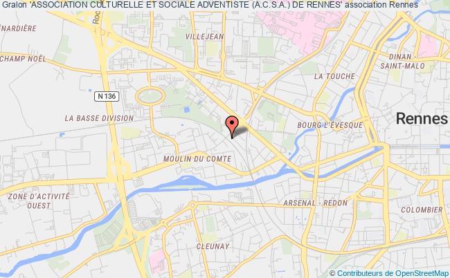 plan association 'association Culturelle Et Sociale Adventiste (a.c.s.a.) De Rennes' Rennes