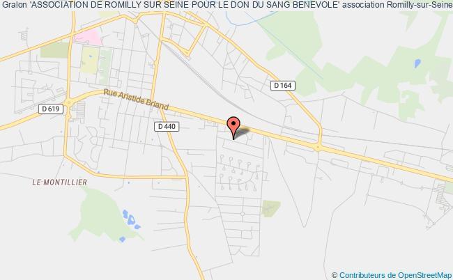 plan association 'association De Romilly Sur Seine Pour Le Don Du Sang Benevole'
