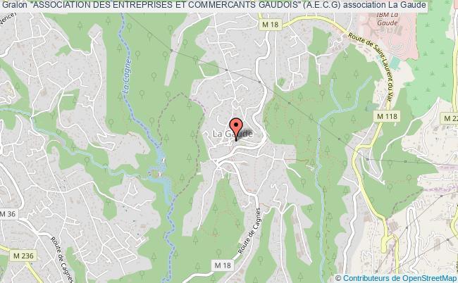 """plan association """"association Des Entreprises Et Commercants Gaudois"""" (a.e.c.g)"""