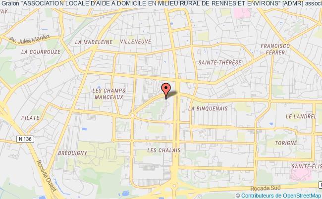 """plan association """"association Locale D'aide A Domicile En Milieu Rural De Rennes Et Environs"""" [admr] Rennes"""