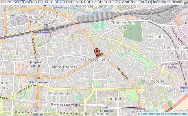 """plan association """"association Pour Le Developpement De La Culture Oceanienne"""" [adco]"""