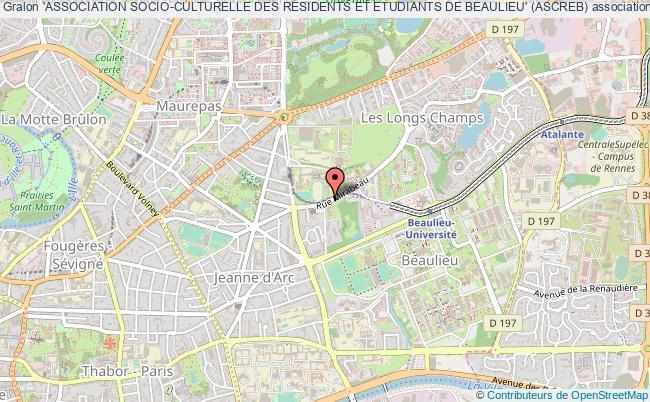 plan association 'association Socio-culturelle Des Residents Et Etudiants De Beaulieu' (ascreb)