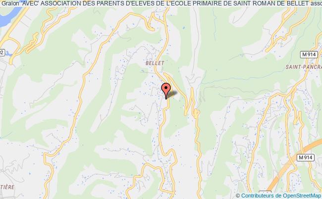 plan association 'avec' Association Des Parents D'eleves De L'ecole Primaire De Saint Roman De Bellet