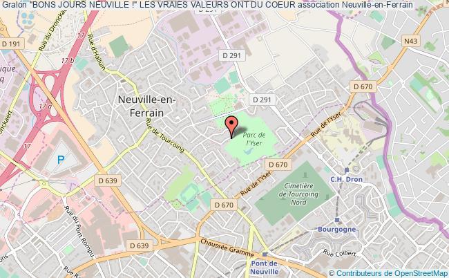 """plan association """"bons Jours Neuville !"""" Les Vraies Valeurs Ont Du Coeur"""