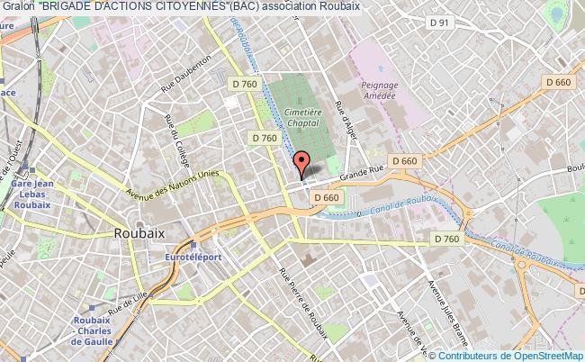 "plan association ""brigade D'actions Citoyennes""(bac) Roubaix"