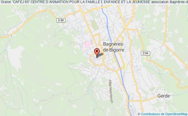 plan association 'cafej 65' Centre D Animation Pour La Famille L Enfance Et La Jeunesse Bagnères-de-Bigorre