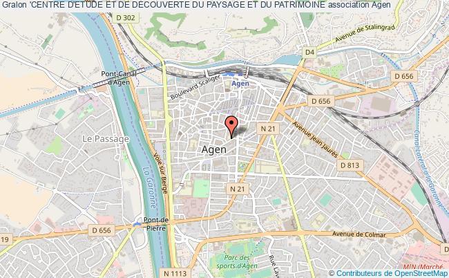 plan association 'centre D'etude Et De Decouverte Du Paysage Et Du Patrimoine