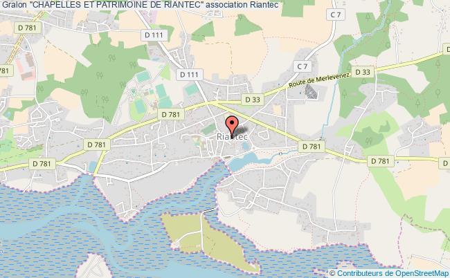 """plan association """"chapelles Et Patrimoine De Riantec"""""""