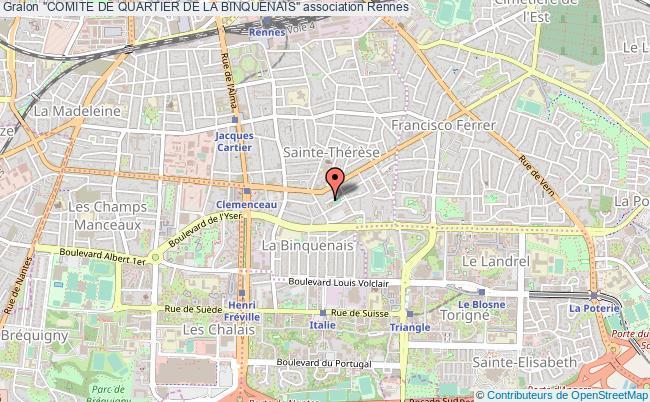 "plan association ""comite De Quartier De La Binquenais"" Rennes"